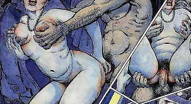 Wild drawn gang bang! - All Sex Comics
