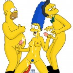 Marge Simpson in group sex - adult comics - Simpsons Toons