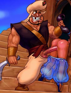 Princess Jasmine cheats Aladdin