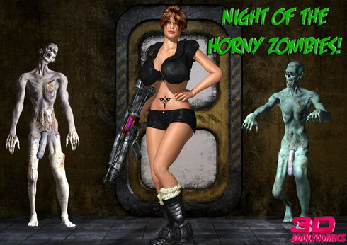 Horny zombies 3D fucking - 3D Sex