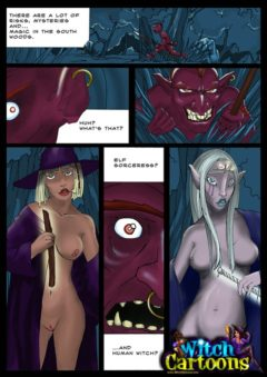 Elf babe and sexy witch - Witch Cartoons